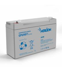 Аккумуляторная свинцово-кислотная батарея MERLION AGM GP690F1 6 V 9Ah Q10