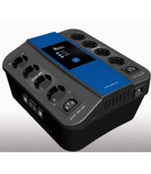 ИБП Ritar U-Smart-1000 (600W), LED, AVR, 3st, 8xSCHUKO socket, 1x12V9Ah, USB x2, RJ45, plastik Case (370*340*190 ) 6,4 кг (280*2