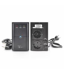 ИБП Ritar E-RTM500 (300W) ELF-L, LED, AVR, 2st, 2xSCHUKO socket, 1x12V7Ah, metal Case Q4 (370*130*210) 4,8 кг (310*85*140)