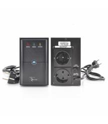 ИБП Ritar E-RTM650 (390W) ELF-L, LED, AVR, 2st, 2xSCHUKO socket, 1x12V7Ah, metal Case Q4 (370*130*210) 4,8 кг (310*85*140)