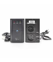 ИБП Ritar E-RTM850 (510W) ELF-L, LED, AVR, 2st, 2xSCHUKO socket, 1x12V9Ah, metal Case Q4 (370*130*210) 5,8кг (310*85*140)