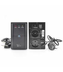 ИБП Ritar E-RTM650L-U (390W) ELF-L, LED, AVR, 2st, USB, 2xSCHUKO socket, 1x12V7Ah, metal Case Q4 (370*130*210) 4,8 кг (310*85*14