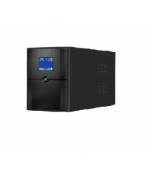 ИБП Ritar E-RTM650 (390W) ELF-D, LCD, AVR, 2st, 2xSCHUKO socket, 1x12V7Ah, metal Case Q4 (370*130*210) 4.8 кг (310*85*140)