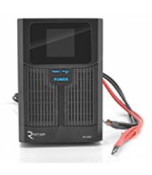 ИБП с правильной синусоидой RITAR RTSW-1500 LCD (1000Вт),12В, под внешний АКБ, Q1 (500*245*350) 14,9 кг (400*145*210)