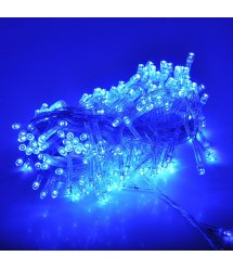 Гирлянды 100LED (Диод) Blue, 8 метров, 5 режимов, прозрачная изоляция, BOX