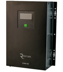 ИБП с правильной синусоидой RITAR RTSWbt-500, 2 встроенных АКБ по 12V 9Ah, под внешний АКБ