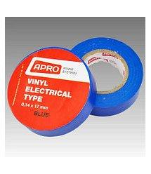 Изолента APRO 0,14мм*17мм*10м (синяя), диапазон рабочих температур: от - 10°С до + 80°С, высокое качество!!! 10 шт. в уп