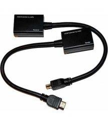 Удлинитель HDMI сигнала пассивный через 2 витые пары 2 CAT-5e / CAT-6e до 30m, цена за пару