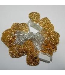 Гирлянды 20LED Metal 3 (золотое сердце), 1 режим, 5метров, прозрачная изоляция, BOX