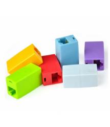 Соединитель RJ45 8P8C мама / мама RJ45 для соединения кабеля, голубой, упаковка100шт, цена за упаковку