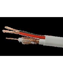 Комбинированный кабель Одескабель КСВ-1+2*0,22 с запиткой бухта 200 м оболочка ПВХ цвет белый