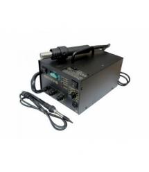 Паяльная станция BAKKU BK-701B цифровая индикация, фен, паяльник (335*280*200) 4,29 кг