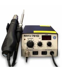 Паяльная станция BAKKU BK-761D цифровая индикация, фен, паяльник (275*223*123) 2,46 кг