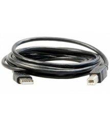 Кабель USB 2.0 AM / BM, 1.5m, 1 феррит, черный, Пакет Q500