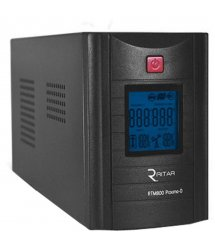 ИБП Ritar RTM800 (480W) Proxima-D, LCD, AVR, 2st, 2xSCHUKO socket, 1x12V9Ah, metal Case (324х100х153)- Q4