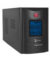 ИБП Ritar RTM1200 (720W) Proxima-D, LCD, AVR, 3st, 3xSCHUKO socket, 2x12V7.5Ah, metal Case (350х120х188)- Q2