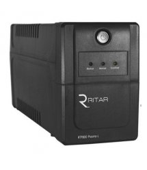 ИБП Ritar RTP625 (375W) Proxima-L, LED, AVR, 2st, 2xUNIVERSAL socket, 1x12V7Ah, plastik Case ( 300 x 100 x 140 ) Q4