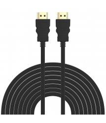 Кабель HDMI-HDMI HIGH SPEED 20m, v1.4, OD-7.5mm, круглый Black, коннектор Black, (Пакет) Q25