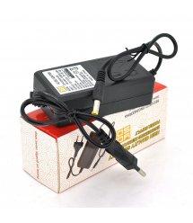 Импульсный адаптер питания 12В 2А (24Вт) YOSO ZH1202000 штекер 5.5 / 2.1 + кабель питания, длина 1м Q200 + переходник 5,5 / 2,5