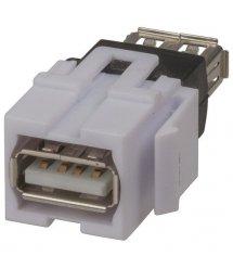 Keystone модуль USB PROinstal ZNKS-L12/WH (мама-мама)