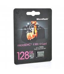 Карта памяти Microflash Micro SD, cкорость передачи данных 70MB / s, class10, 128G