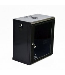 Шафа 12U, 600x350x640мм (Ш*Г*В), економ, акрилове скло, чорна