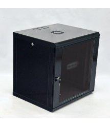 Шафа 12U, 600x600x640мм (Ш*Г*В), економ, акрилове скло, чорна