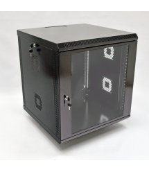 Шафа 12U, 600х500х640 мм (Ш*Г*В), акрілове скло, чорна