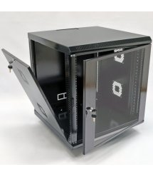 Шафа 12U, 600х600х640 мм (Ш*Г*В), акрілове скло, чорна