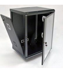 Шафа 15U, 600х500х773 мм (Ш*Г*В), акрилове скло, чорна