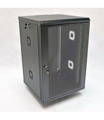 Шафа 18U, 600х600х907 мм (Ш*Г*В), акрилове скло, чорна