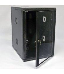 Шафа 18U, 600х800х907 мм (Ш*Г*В), акрилове скло, чорна