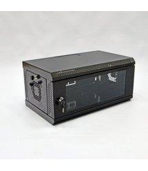 Шафа 4U, 600х350х284 мм (Ш*Г*В), акрилове скло, чорна