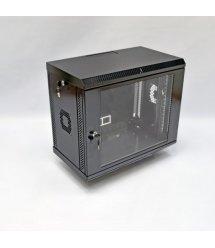 Шафа 9U, 600х350х507 мм (Ш*Г*В), акрилове скло, чорна