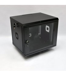 Шафа 9U, 600х500х507 мм (Ш*Г*В), акрилове скло, чорна