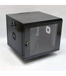 Шафа 9U, 600х600х507 мм (Ш*Г*В), акрилове скло, чорна