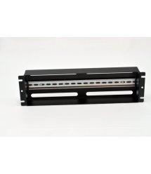 """Панель 19"""" 3U з DIN-рейкою, для 24-х автоматичних вимикачів, чорна"""
