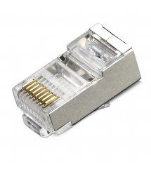 Коннектор RITAR RJ-45 CONNECTOR 8P8C FTP Cat6 экранированный (100 шт / уп.) Q100